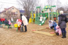 Открытие детской площадки в Железнодорожном
