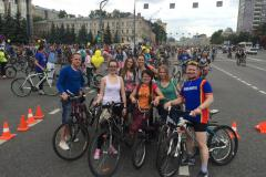 Участие в V Московском велопараде